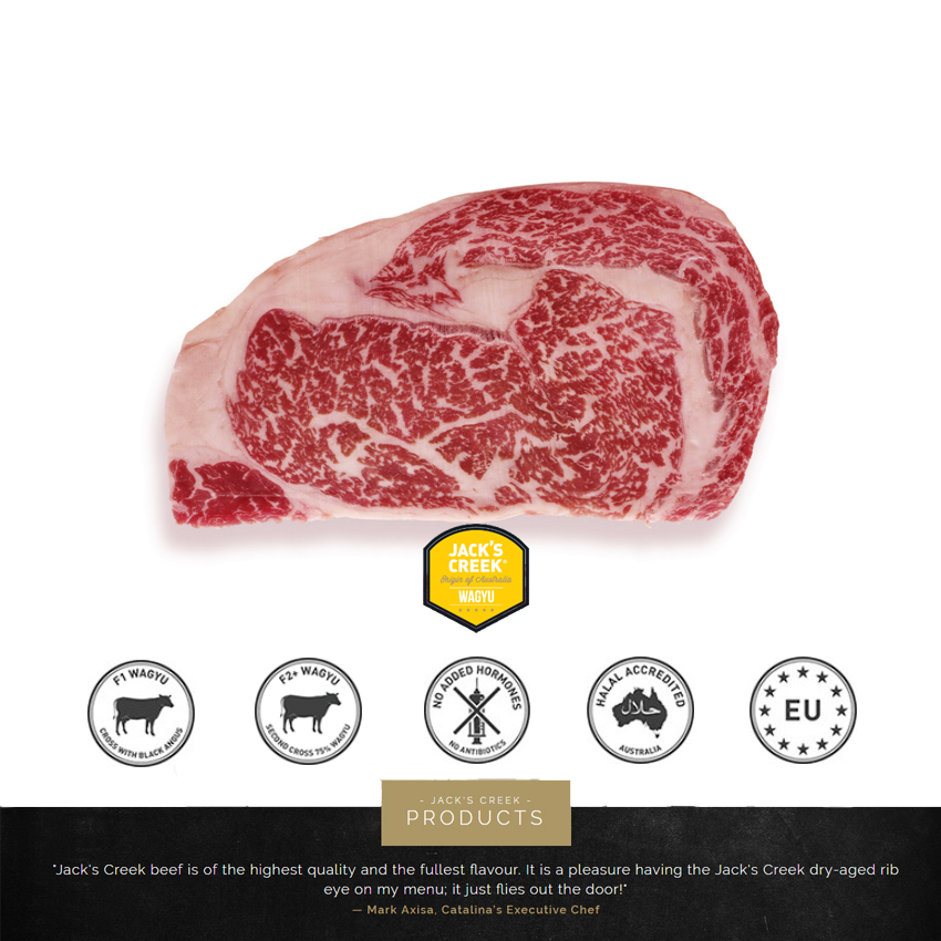 Australia Wagyu Rib-eye MB7-8 ~200g - CookCook Land